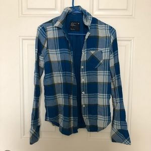 American Eagle Outfitters Plaid Button Down Size 2